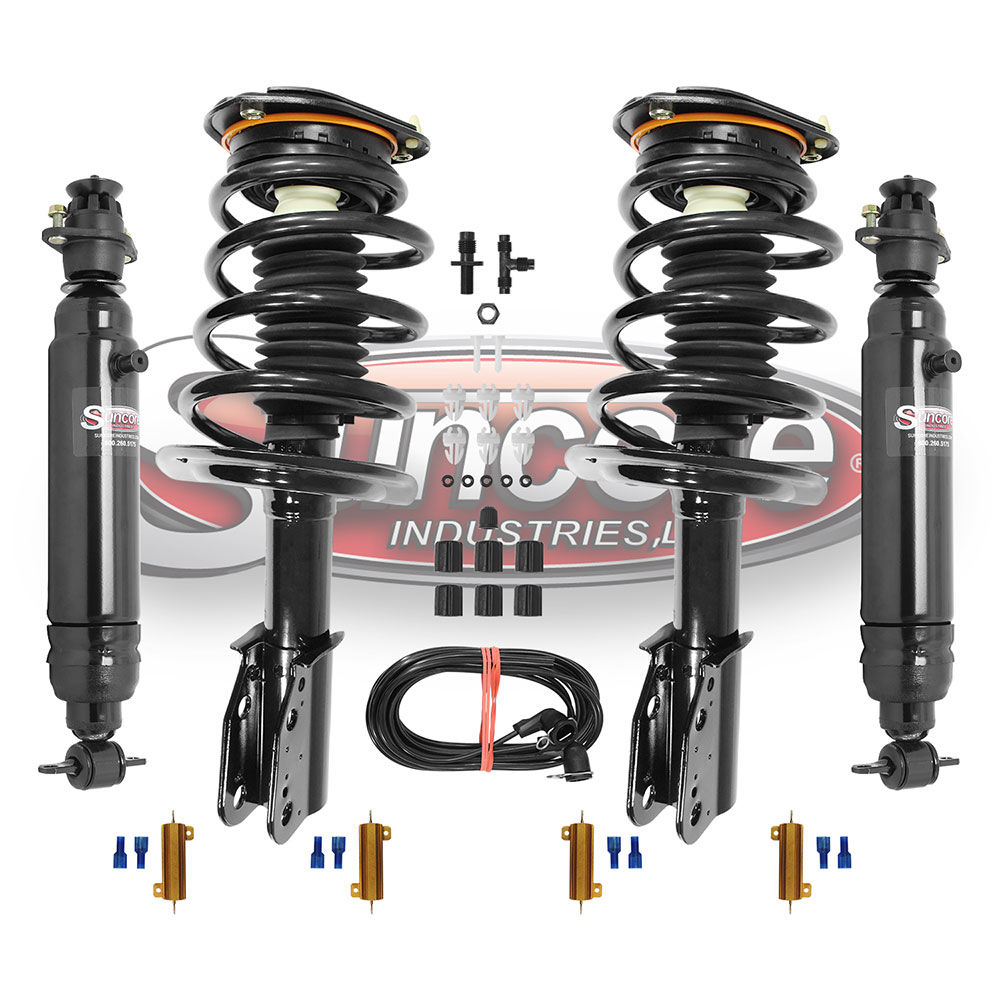 Electronic Suspension to Coil Spring and Strut Conversion Kit with Air Shock Absorbers Bundle - GM