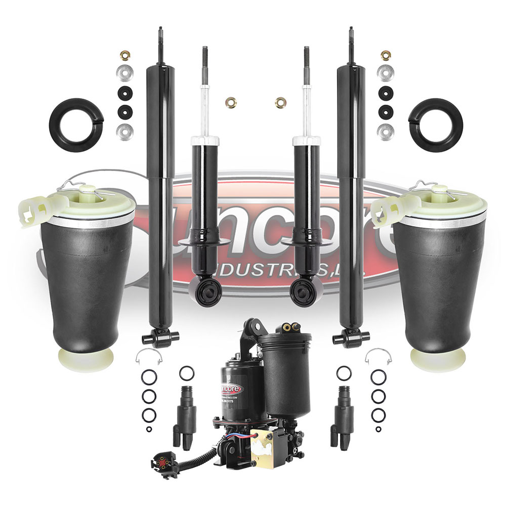 4 Wheel Air Suspension Springs & Compressor Kit - 2003-2011 Ford Crown Victoria