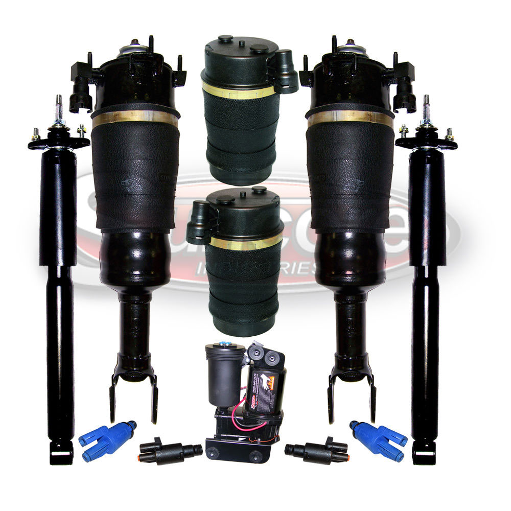 Air Suspension Air Struts, Springs, Gas Shocks and Compressor with Solenoids Bundle - Lincoln Mark VIII