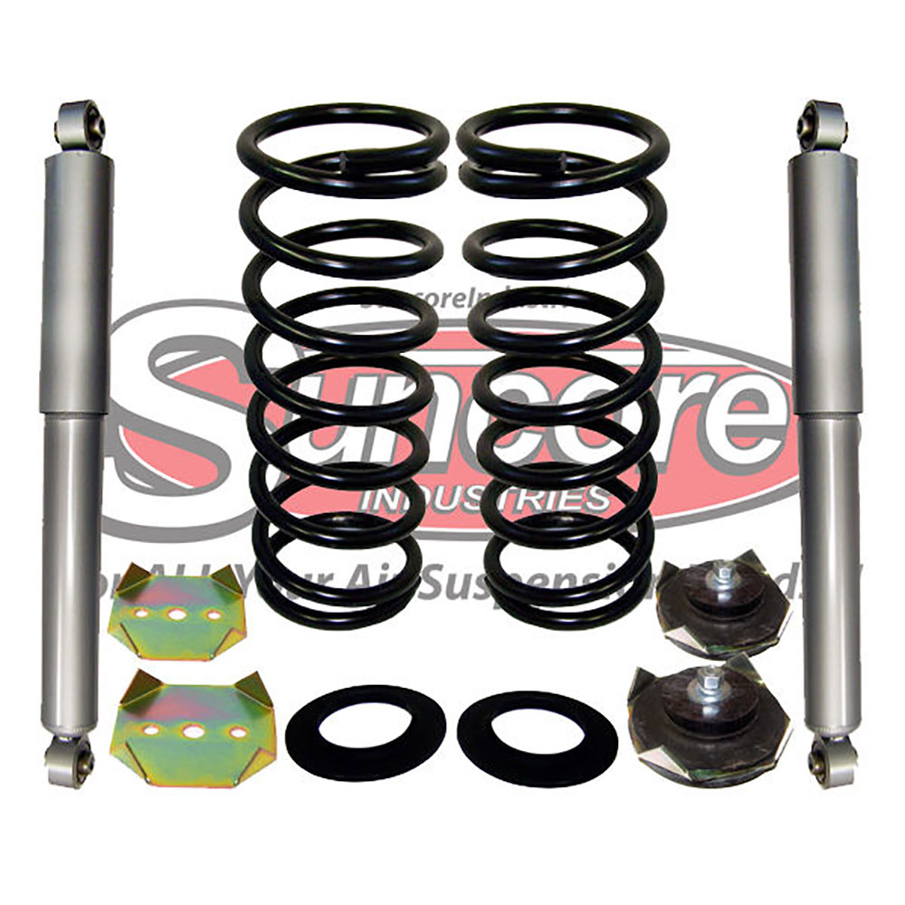 Air Suspension Air to Coil Spring Conversion Kit with Gas Shocks Rear Pairs  - Land Rover Discovery L318