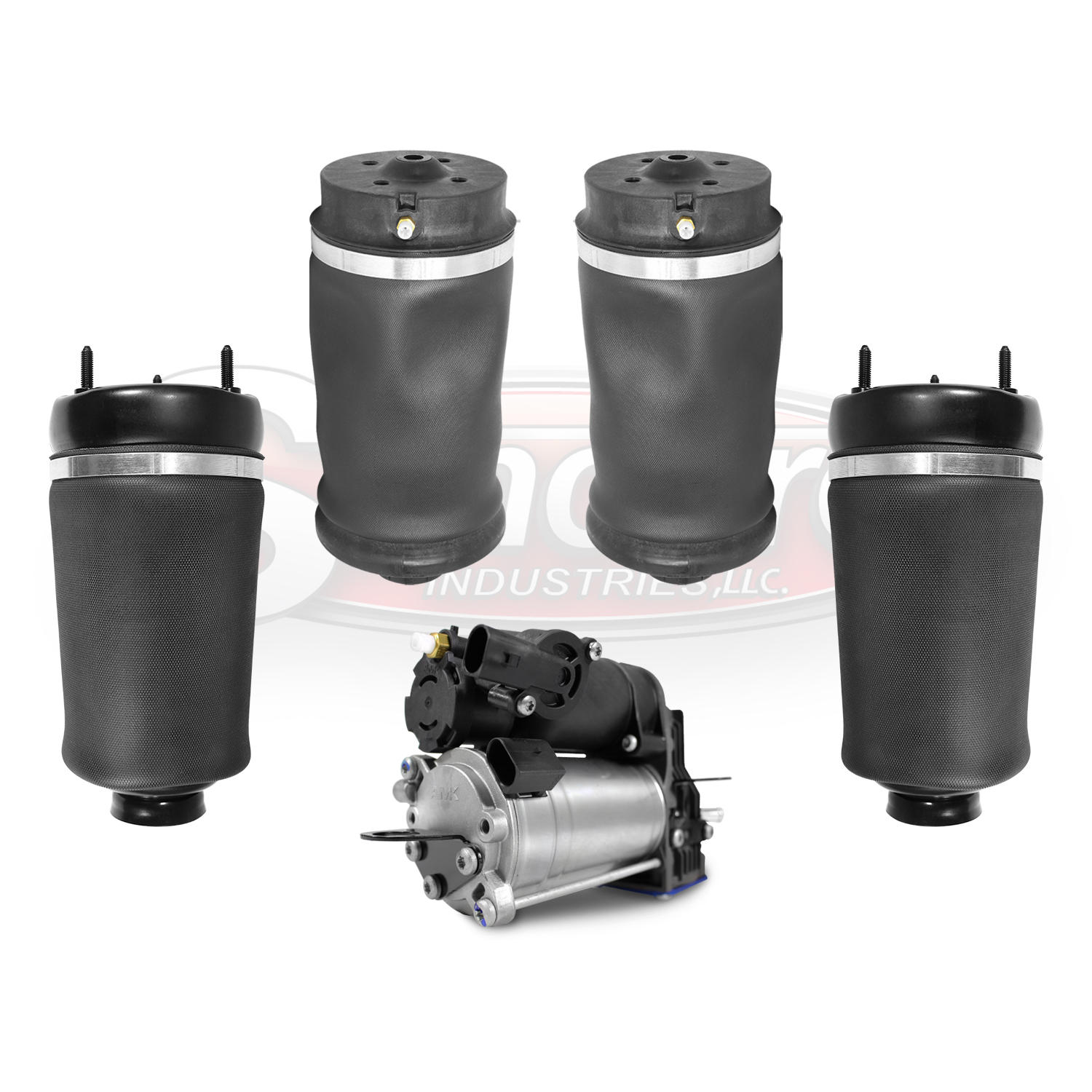 Front & Rear Airmatic Air Springs & Compressor Kit - Mercedes-Benz GL & ML Class X164 W164