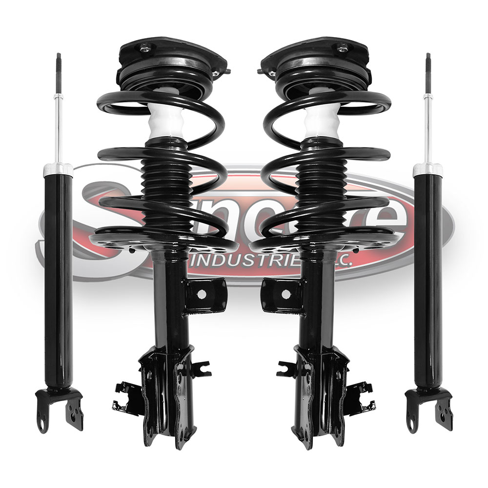 Front Quick Install Strut Assemblies & Rear Shocks Bundle - 4 CYL Nissan Altima with ABS