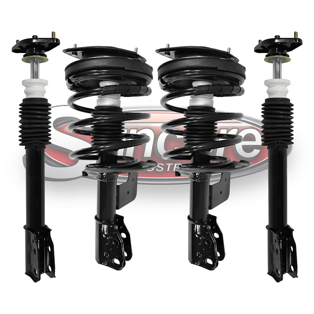 Front Quick Complete Strut & Coil Spring Assemblies and Rear Shocks Kit