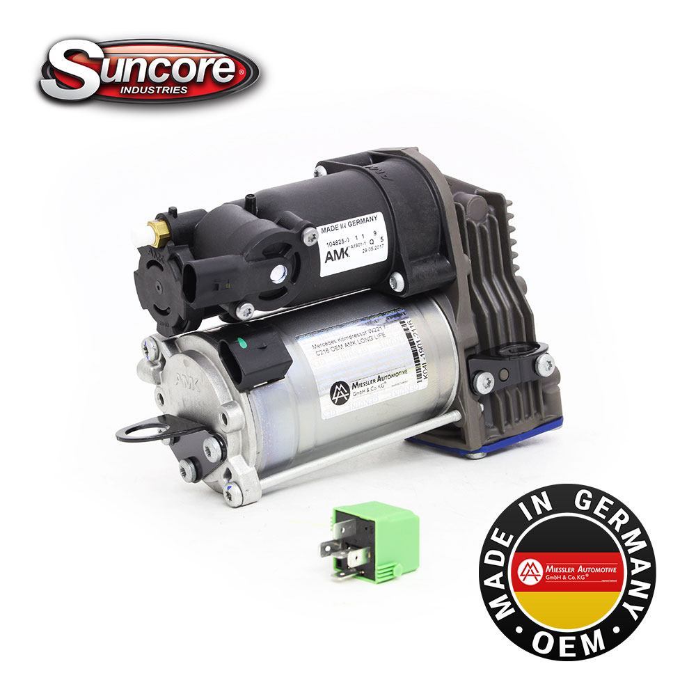 AMK OEM Ride Control Air Compressor pump 2213201704 - Mercedes S & CL Class W221 & C216