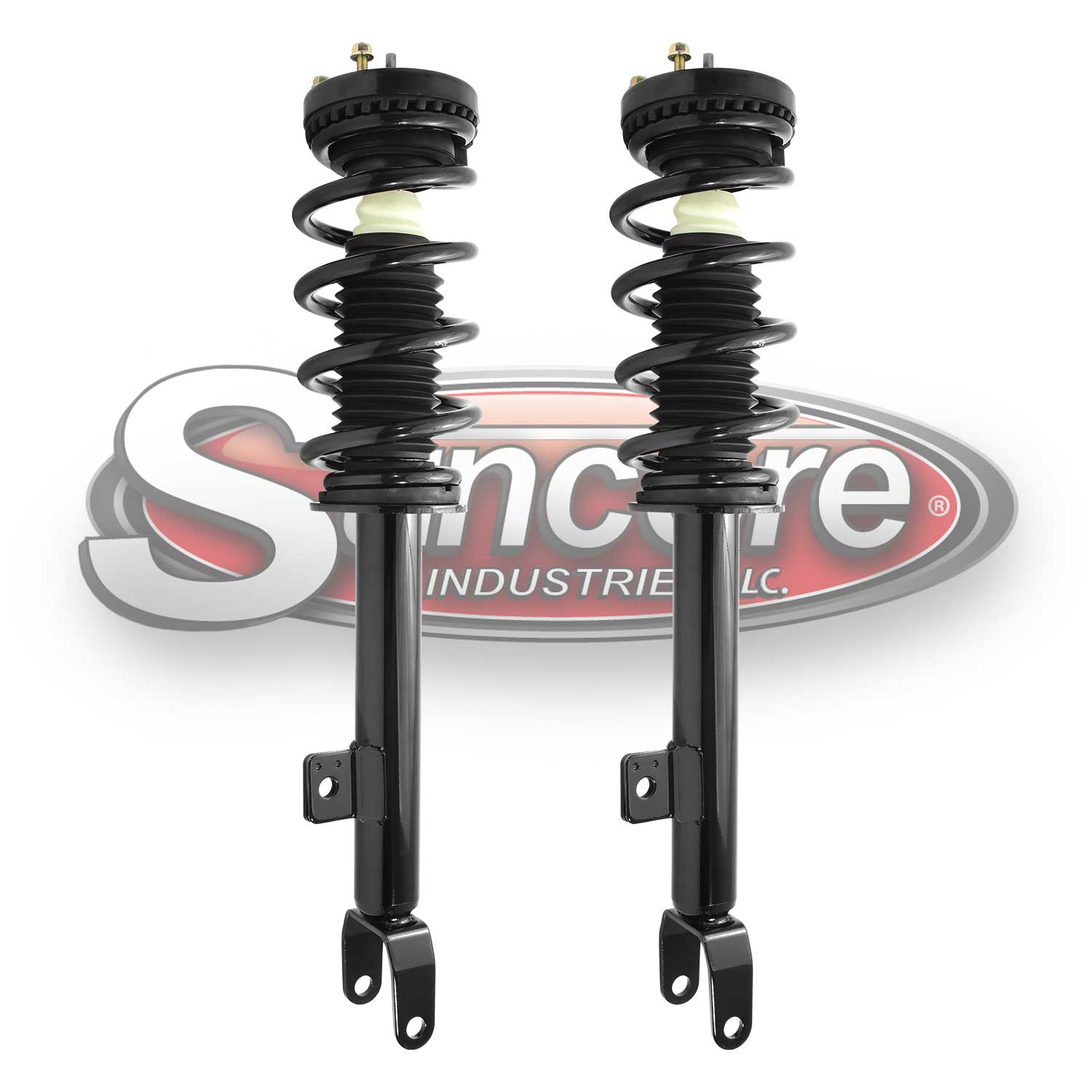 Front Pair of Quick Complete Struts & Springs -12-17 Challenger & Charger V6 RWD