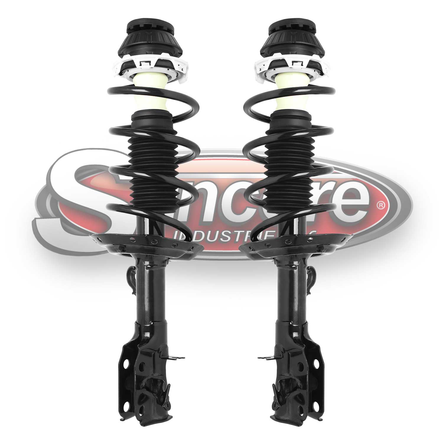 Front Pair of Quick Complete Strut & Spring Assemblies - 2009-2014 Honda Fit