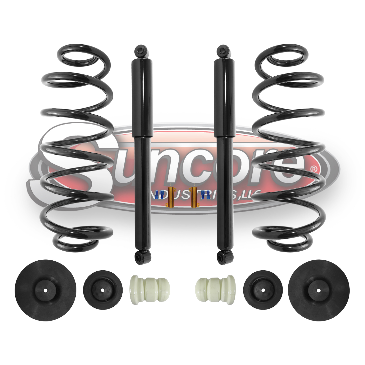 Rear Air to Coil Spring & Shock Passive Conversion Kit 2000-2006 Tahoe Yukon Escalade